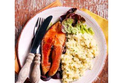 Ricetta light - Cous cous con salmone e melanzane