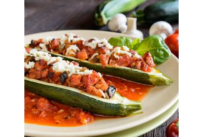 Ricetta light - Zucchine ripiene vegan